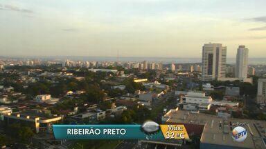 Confira a previsão do tempo para esta quarta-feira (8) em Ribeirão Preto, SP - Temperatura máxima deve ser de 32ºC, segundo meteorologistas.