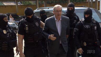 Eduardo Cunha presta primeiro depoimento e afirma ter aneurisma cerebral - Ele deve passar por exames para confirmar a enfermidade.
