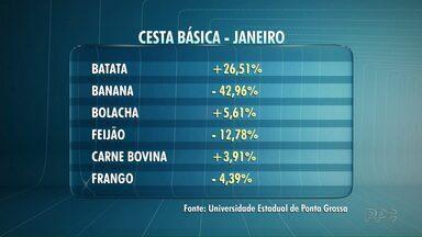 Cesta básica teve queda nos preços em janeiro, em Ponta Grossa - Apesar da queda, a maior vilã foi a batata