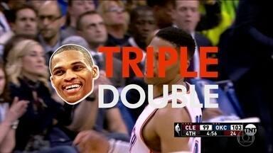 Westbrook faz o 26º triplo duplo, e é responsável por 40% dos triplos duplos da temporada - Westbrook faz o 26º triplo duplo, e é responsável por 40% dos triplos duplos da temporada