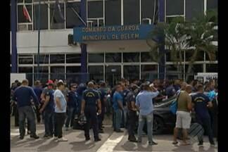Em Belém, Guardas Municipais paralisam as atividades em protesto nesta sexta-feira (10) - Categoria foi para a rua reivindicar melhores condições de trabalho e reposição salarial.