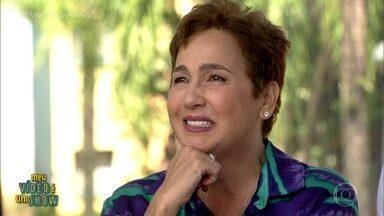 Claudia Jimenez revisita carreira no 'Meu Vídeo É Um Show' - Atriz e humorista se diverte com imagens de seus primeiros trabalhos na TV