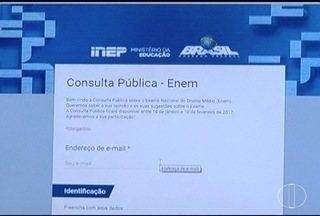 Termina nesta sexta (10) a consulta pública a respeito do ENEM - O Mec quer saber a opinião dos principais interessados, os estudantes.