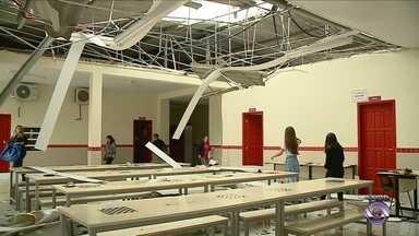 Reforma de escolas atingidas por vendaval deve começar na próxima semana - Reforma de escolas atingidas por vendaval deve começar na próxima semana