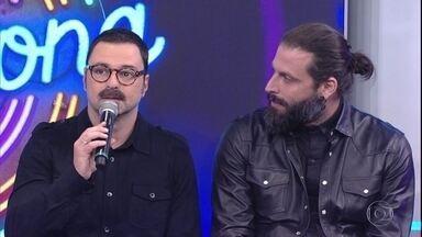 Henri Castelli e Emilio Orciollo Netto acertam primeira a música no Ding Dong - Mesmo na dúvida os dois atores arriscam