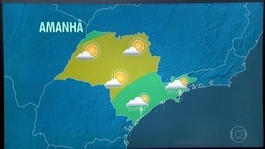 Confira a previsão do tempo para a quarta-feira (15) em São Paulo - O dia começa com 22 graus e a máxima deve ser de 33 graus.