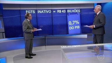 Carlos Alberto Sardenberg fala sobre o resgate do FGTS - Governo federal informou que, ao todo, R$ 43 bilhões poderão ser sacados por quem não teve movimentação no Fundo de Garantia ao longo de 2016.