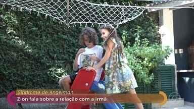 Sobrinho de Marcelo D2 conta rotina ao lado da irmã, que tem síndrome de Angelman - Zion declara seu amor por Liora. O primo deles, Luca, também se emociona com a reportagem