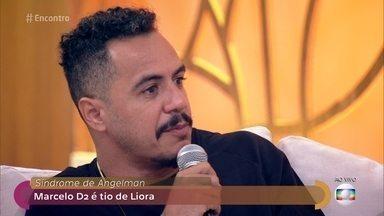 Marcelo D2 diz que família se uniu mais após nascimento de sobrinha com síndrome rara - Liora tem síndrome de Angelman. A mãe dela destaca que ela é uma menina feliz e usa gestos para se referir às pessoas