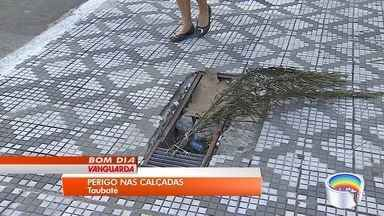Moradores reclamam de calçadas estreitas e mal conservadas em Taubaté - Principal problema acontece no centro da cidade.