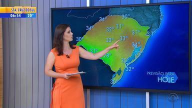 Tempo: previsão é de chuva para quase todas as regiões do RS nesta sexta-feira - Instabilidade continua e pancadas devem ser isoladas.