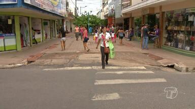 Cheia dos rios preocupa o setor varejista santareno - Preocupação é de que a cheia afete a economia local.