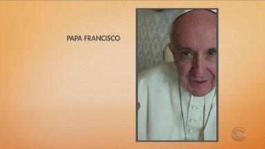 Papa grava mensagem para crianças da Grande Florianópolis - Papa grava mensagem para crianças da Grande Florianópolis