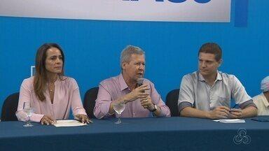Artur pede que Melo reveja subsídios ao transporte e revela ter câncer - Prefeito de Manaus diz que cobrança de ICMS vai gerar aumento da tarifa.