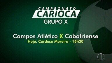 Campos Atlético enfrenta a Cabofriense pelo Campeonato Carioca - Partida acontece neste sábado (18).