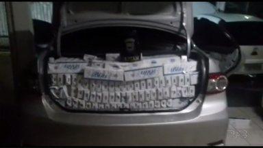 PM apreende carro lotado de cigarros na região oeste do estado - Ação foi realizada na região de Pato Branco.