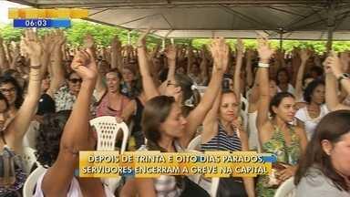 Após 38 dias, servidores decidem encerrar greve em Florianópolis - Após 38 dias, servidores decidem encerrar greve em Florianópolis