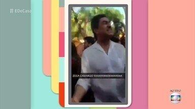 Zeca Camargo cai na folia em Olinda - Após gravar reportagem, o jornalista foi conferir o carnaval de Olinda