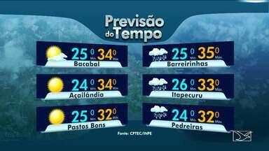 Veja a previsão do tempo para esta quarta-feira (1º) no MA - A previsão será de tempo instável e muita chuva na maioria das regiões do estado do Maranhão.