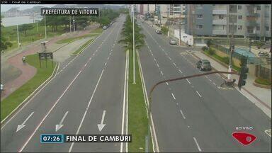 Confira as imagens do trânsito na Grande Vitória na manhã desta quarta-feira (1) - Câmeras mostram as principais vias da região metropolitana.