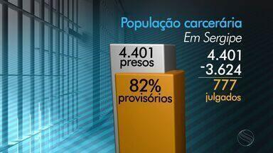 Sergipe é o estado com maior número de presos provisórios do país - Sergipe é o estado com maior número de presos provisórios do país.