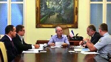 Governo do ES discute reestruturação da PM - Reunião aconteceu no Palácio Anchieta, em Vitória.