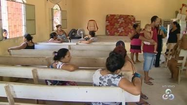 Família desabrigadas precisam de doações após chuva em Manaus - Chuva causou estragos em bairros da zona norte.