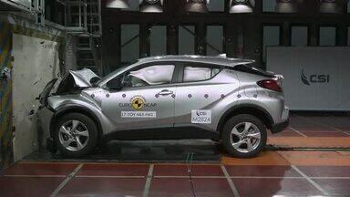 Toyota CH-R recebe 5 estrelas em teste de colisão na Europa - Ainda distante do mercado brasileiro, crossover japonês tem ótima avaliação do Euro NCap.