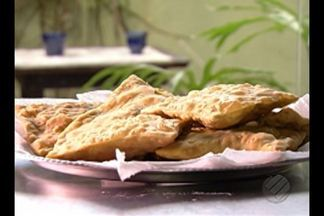 Aprenda a preparar o pastel de camarão com massa de jambu - Empresário criou receita usando ingredientes típicos do tacacá e o camarão é o principal ingrediente do recheio.