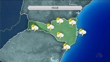 Temperatura deve baixar nas próximas horas em SC; veja na previsão do tempo - Temperatura deve baixar nas próximas horas em SC; veja na previsão do tempo