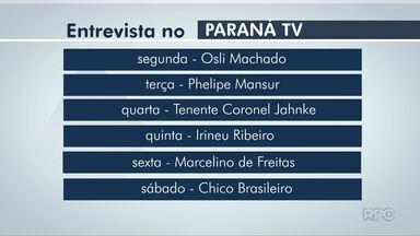 Semana que vem os candidatos a Prefeito de Foz vão estar no Paraná TV - As entrevistas começam segunda-feira.