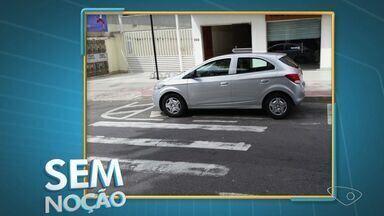 Sem Noção: motoristas são flagrados parados em faixa de pedestre - Registros foram enviados para o aplicativo da TV Gazeta.