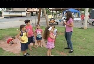 'Blitz': Praça do Bairro Cidade Nova, em Ipatinga, oferece risco para crianças - Conhecido como 'Praça das Mães', local tem se tornado perigoso.
