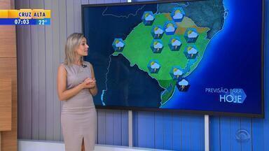 Tempo: quinta-feira (9) deve ser um dia de calor e chuva no RS - Sistema que provocará a chuva se espalha pelo estado ao longo do dia.