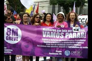 Mulheres da capital e interior foram às ruas protestar contra a violência - Integrantes de movimentos sociais também cobraram políticas públicas para as mulheres.