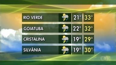 Confira a previsão do tempo para esta semana em Goiás - Em várias regiões do estado estão previstas chuvas.