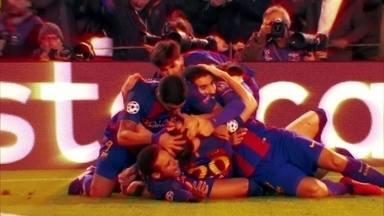 Barcelona faz o improvável, goleia o PSG e vai às quartas na Liga dos Campeões - Na Liga dos Campeões, parecia que o Barcelona não conseguiria passar pelo PSG. Mas o time de Neymar, Messi e Suárez mostrou que sempre vale a pena lutar.