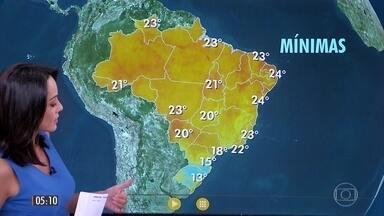 Confira a previsão do tempo para a terça-feira (14) - Veja como fica o tempo em todo país.