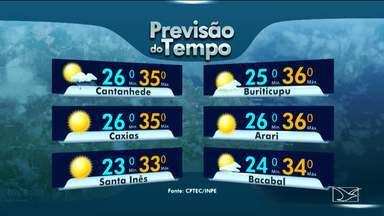 Veja a variação das temperaturas no Maranhão - Terça-feira (14) deve ser de sol entre nuvens em todo o estado do Maranhão, segundo a previsão do tempo.