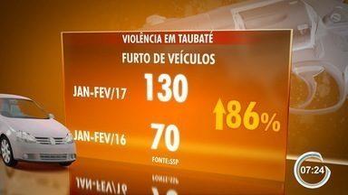Aumentam os furtos e roubos de carro em Taubaté - Nos últimos dois meses, 65 carros foram roubados na cidade.