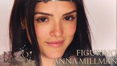 Veja com detalhes o figurino de Anna Millman - Isabelle Drummond se transforma em Anna Millman com belíssimo figurino