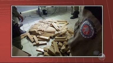 103 kilos de maconha em tabletes são apreendidos no sudoeste do estado - Situação aconteceu na cidade de Ipiaú.