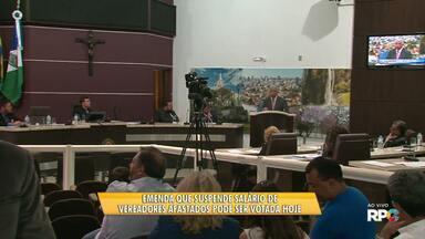 Emenda que suspende salário de vereadores afastados pode ser votada hoje - A votação da emenda foi suspensa por três vezes e hoje volta à discussão na câmara de vereadores de Guarapuava.
