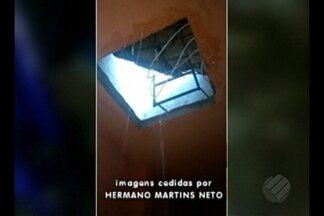 Reservatório de água de condomínio em Ananindeua quebra e assusta moradores - Não houve feridos com o acidente