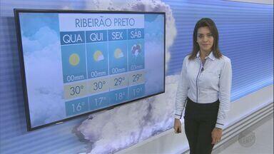 Veja a previsão do tempo para esta quarta-feira (22) na região de Ribeirão Preto - O dia começa com a temperatura na casa dos 16ºC em Franca, SP.