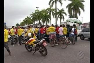 Mototaxistas protestaram e interditam trecho da BR-316, na Grande Belém - Eles cobram maior segurança no trânsito de Ananindeua