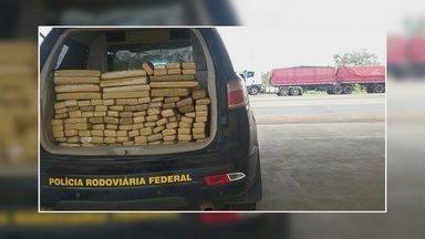 Grupo suspeito de transportar drogas para outros estados é preso em RO - Polícia prendeu três homens e duas mulheres em Ariquemes.Grupo enviou 95 kg de maconha entre carga de macarrão.