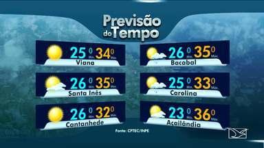 Veja a variação das temperaturas no Maranhão - São Luís terá nesta quarta-feira (22) sol com aumento de nebulosidade e os termômetros ficam entre 21 e 32 graus.