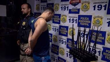 PRF prende em Florestal um suspeito de roubar cargas - Homem de 33 anos tinha um mandado de prisão em aberto e estava foragido há 14 meses.