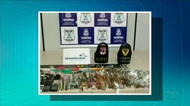 Polícia encontra armas e drogas durante vistoria na Casa de Prisão Provisória de Palmas - Polícia encontra armas e drogas durante vistoria na Casa de Prisão Provisória de Palmas